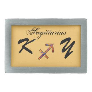 Sagittarius Zodiac Symbol Element by K Yoncich Belt Buckles