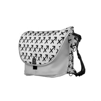Sagittarius Zodiac Symbol Standard Courier Bags