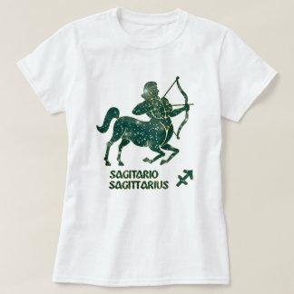 Sagittarius Zodiac Turquoise Stars Modern T-Shirt