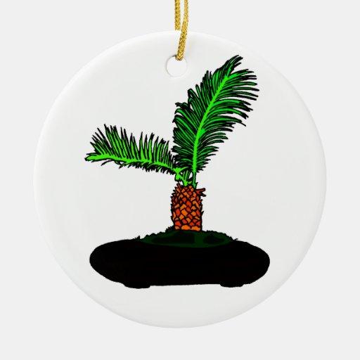 Sago Palm Bonsai Type Graphic Image tree Christmas Tree Ornaments