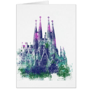 Sagrada Familia Barcelona Card