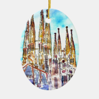 Sagrada Familia Barcelona Christmas Ornament