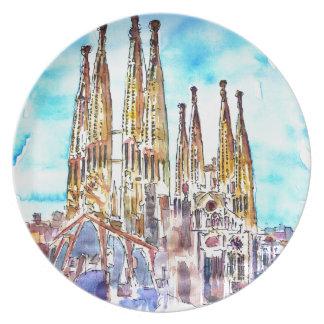 Sagrada Familia Barcelona Plate