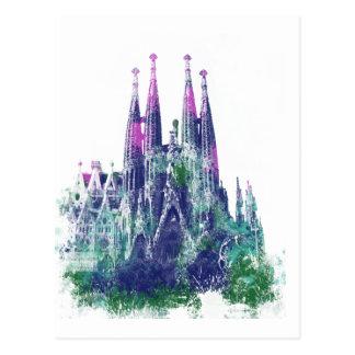 Sagrada Familia Barcelona Postcard