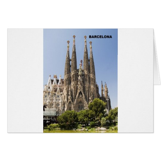 Sagrada Familia Barcelona Spain Card