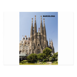 Sagrada Familia Barcelona Spain Postcard