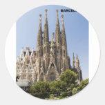Sagrada Familia Barcelona Spain Round Sticker