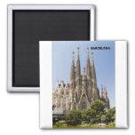 Sagrada Familia Barcelona Spain Square Magnet