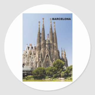 SAGRADA FAMILIA BARCELONA SPAIN (St.K) Classic Round Sticker