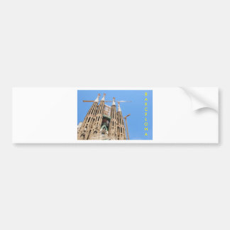 Sagrada Familia in Barcelona, Spain Bumper Sticker