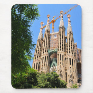 Sagrada Familia in Barcelona, Spain Mouse Mat