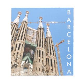 Sagrada Familia in Barcelona, Spain Notepad