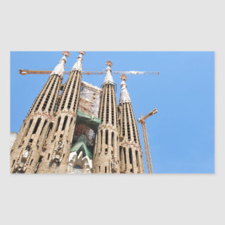 Sagrada Familia in Barcelona, Spain Rectangular Sticker