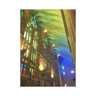 Sagrada Família Interior Canvas Print