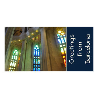 Sagrada Familia. Interior Custom Photo Card