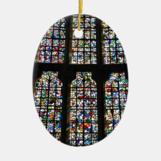 Sagrada Familia Stained Glass Barcelona Photograph Christmas Ornament