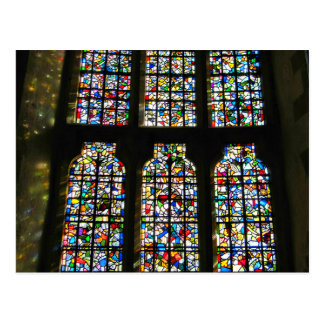 Sagrada Familia Stained Glass Barcelona Photograph Postcard