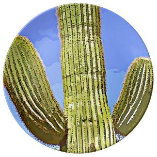 Saguaro Arms Cartoon Decorative Plate