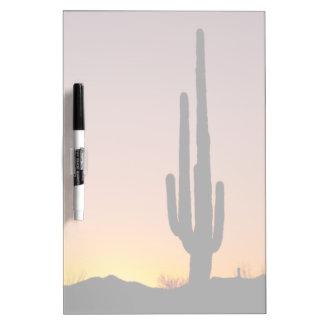 Saguaro Cactus at Sunset Dry Erase Board