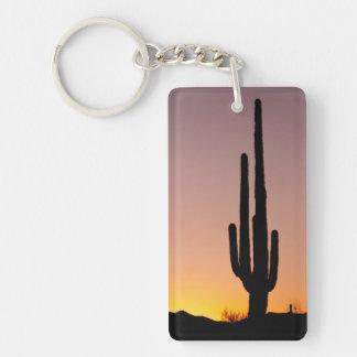 Saguaro Cactus at Sunset Key Ring