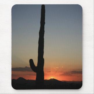 Saguaro Cactus at Sunset Mouse Pad