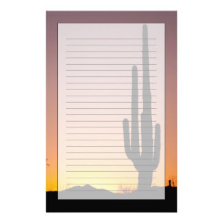Saguaro Cactus at Sunset Stationery