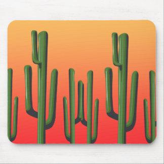 Saguaro Cactus Desert  Sunset Mousepad