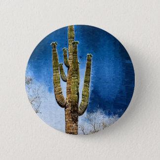 Saguaro Cactus painting 6 Cm Round Badge