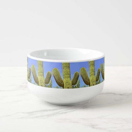 Saguaro Cartoon Soup Mug