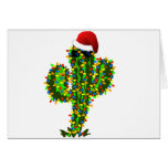 Saguaro Christmas Lights Card
