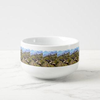 Saguaro in Mountains Soup Mug