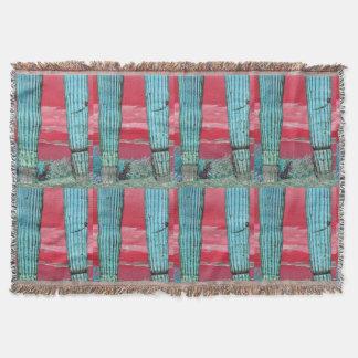 Saguaro Pillar - Red Sky & Turquoise Custom Throw
