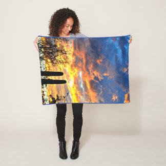 Saguaro Sky Custom Fleece Blanket