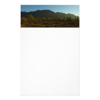 Saguaro Sunrise at Saguaro National Park Stationery