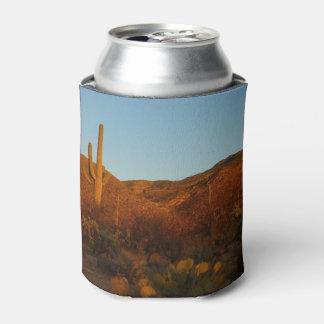 Saguaro Sunset I Arizona Desert Landscape Can Cooler