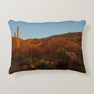 Saguaro Sunset I Arizona Desert Landscape Decorative Cushion