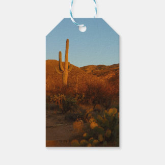 Saguaro Sunset I Arizona Desert Landscape Gift Tags