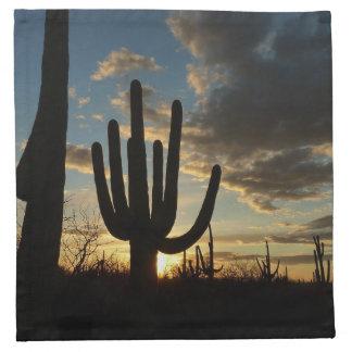Saguaro Sunset II Arizona Desert Landscape Napkin