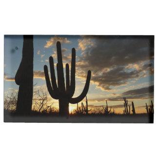 Saguaro Sunset II Arizona Desert Landscape Place Card Holder