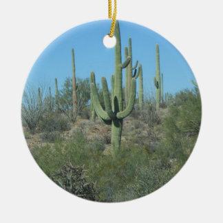 Saguaros Christmas Ornament