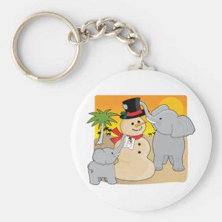 Sahara Christmas Basic Round Button Key Ring