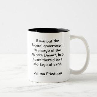 Sahara Desert and the Government Two-Tone Coffee Mug