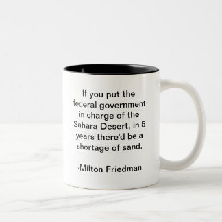 Sahara Desert and the Government Two-Tone Mug