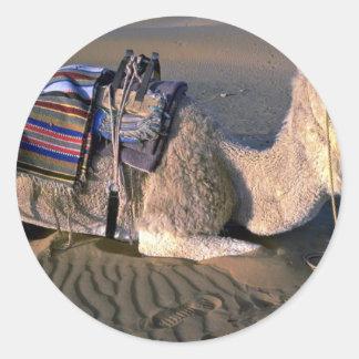 Sahara Desert near Merzouga, Morocco Round Sticker