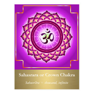 Sahasrara or Crown Chakra Postcard