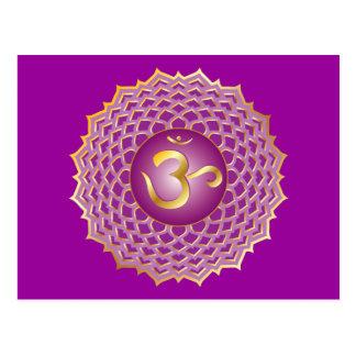 Sahasrara or crown chakra Postcard