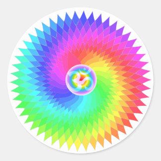 Sahasrara The Crown Chakra Round Sticker