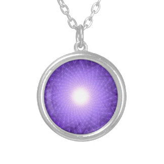 Sahasrara - The Thousand-Petalled Lotus Silver Plated Necklace