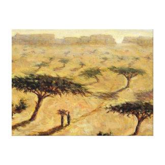 Sahelian Landscape 2002 Canvas Print