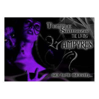 Sahjaza Vampyre business cards